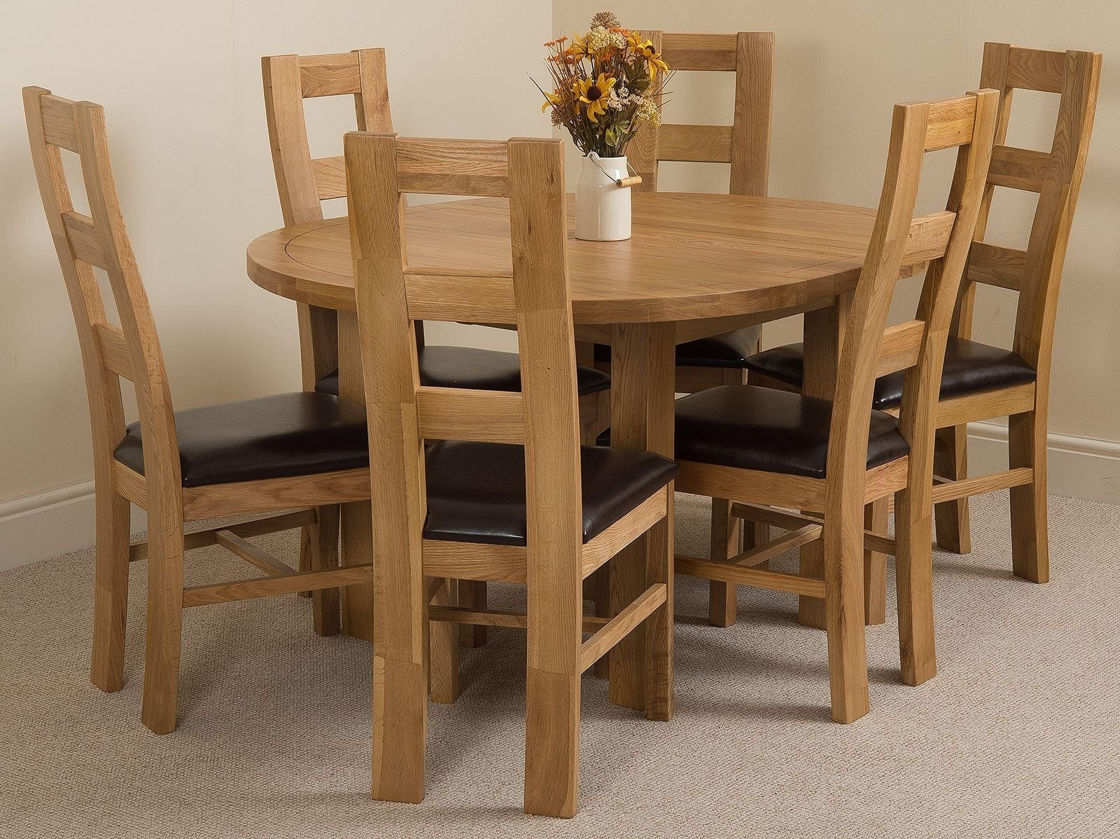 Most Recent Light Oak Dining Tables And 6 Chairs Inside Edmonton Dining Set 6 Yale Chairs (View 20 of 25)