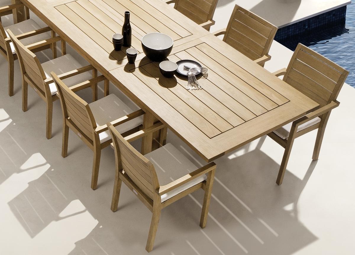 Most Recent Manutti Siena Teak Garden Dining Chair (View 9 of 25)