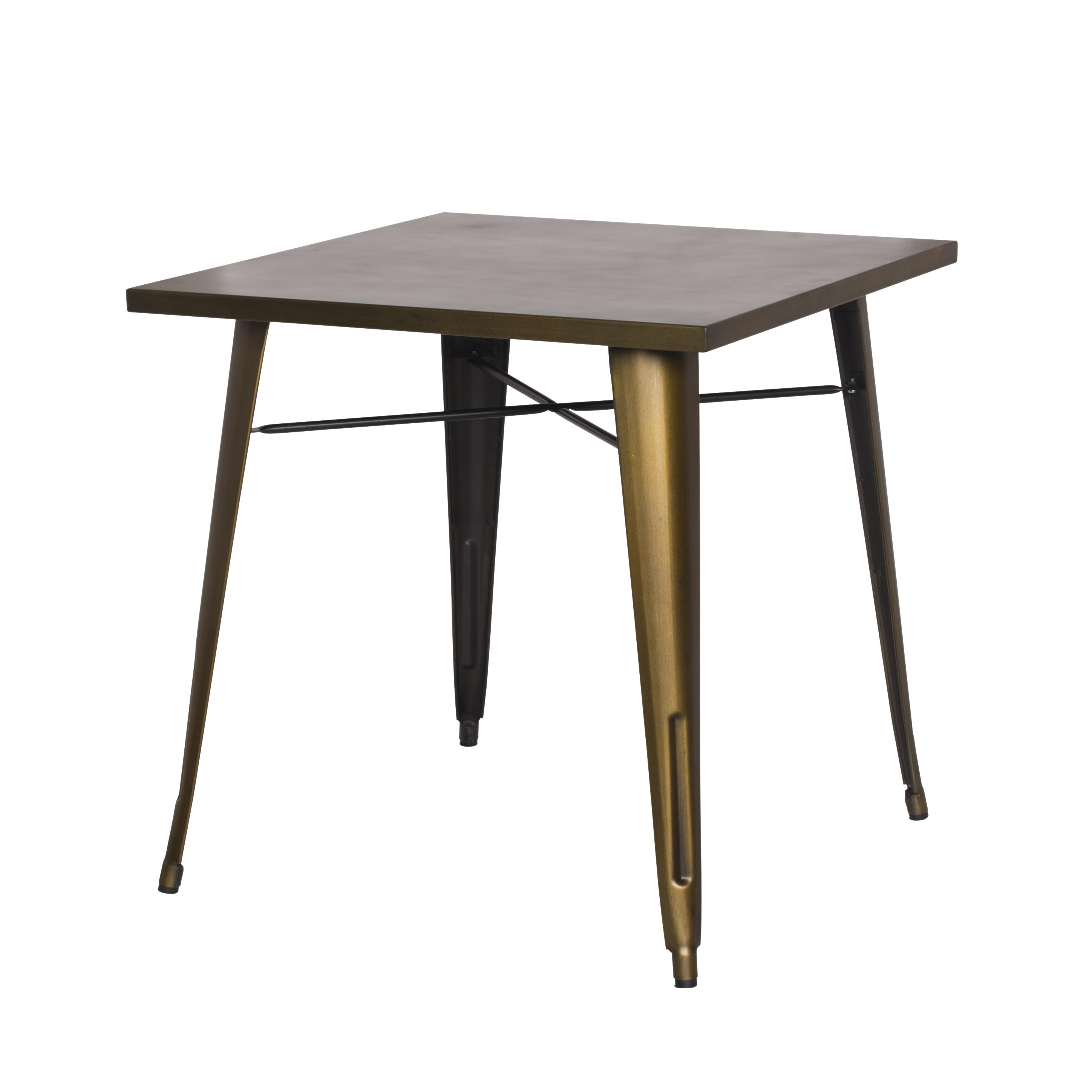 Most Recent Metropolis Kd Metal Dining Table, Brushed Copper – Boulevard Urban Intended For Brushed Metal Dining Tables (View 18 of 25)