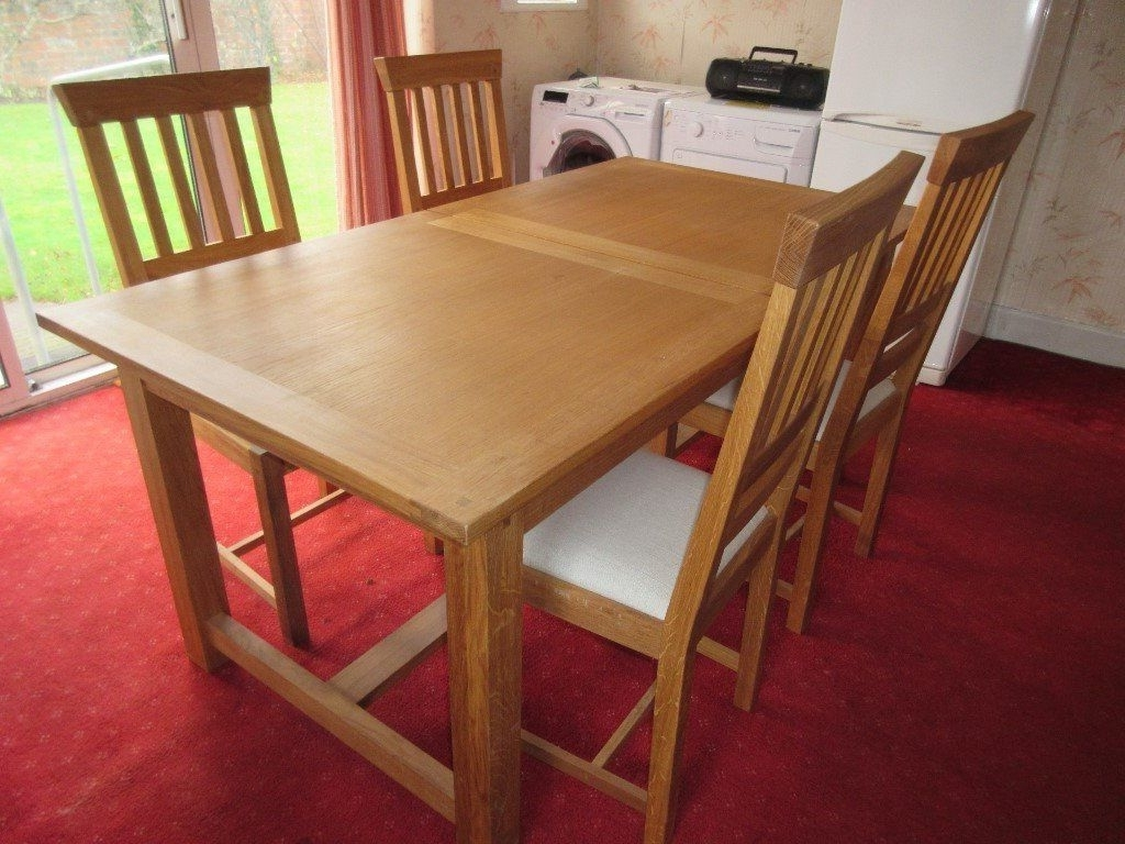 Most Recent Milton Dining Tables Intended For Laura Ashley Milton Oak Dining Table And Chairs In Immaculate (View 19 of 25)