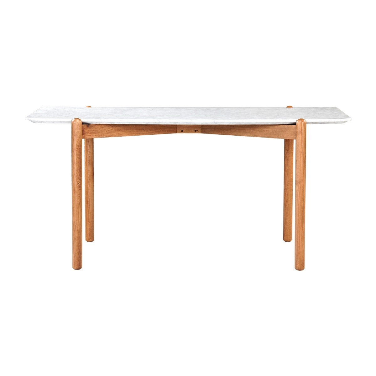 Most Recent Nora Dining Tables Pertaining To Life Interiors – Norah Marble Dining Table (Oak) – Modern Dining (View 9 of 25)