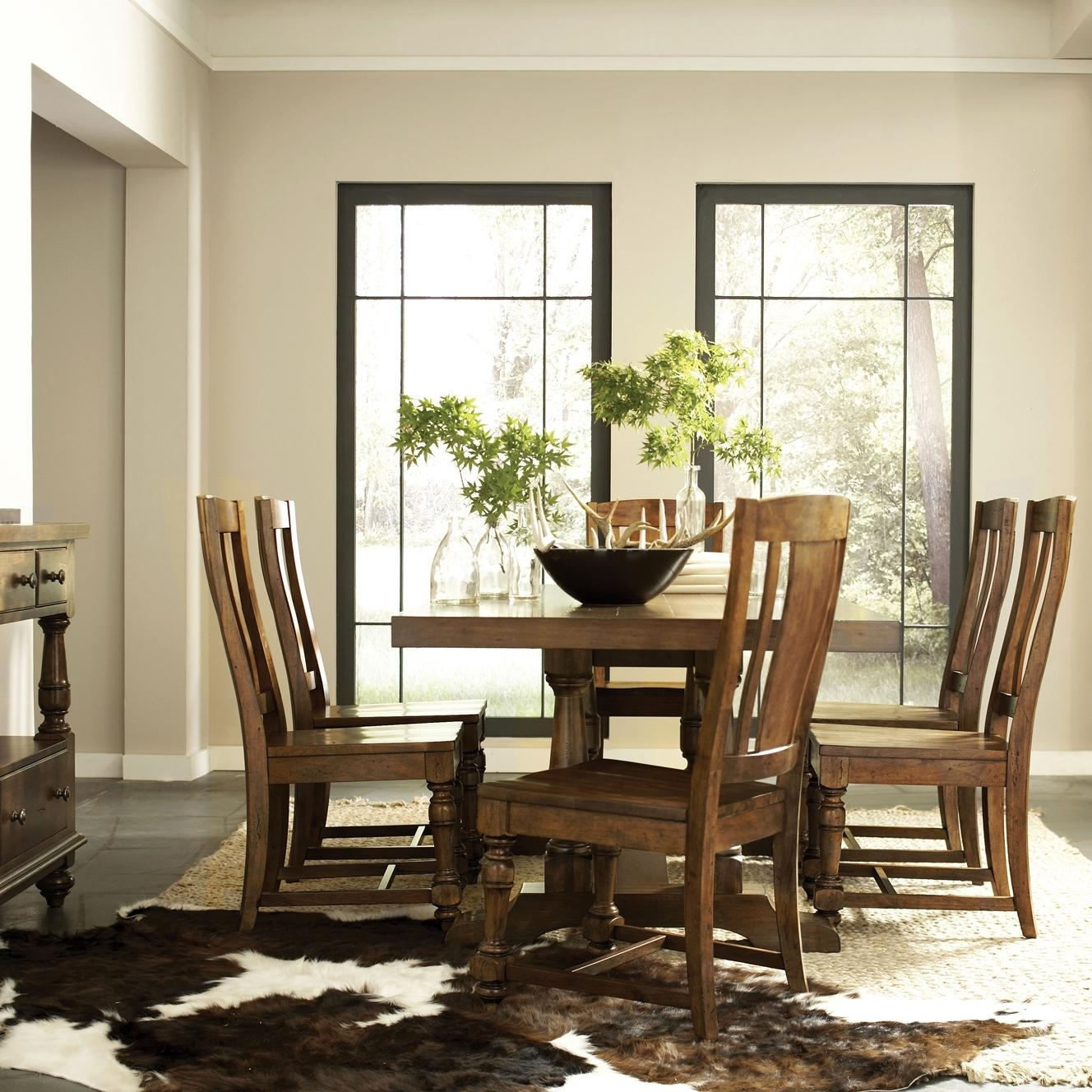 Most Recent Norwood 7 Piece Rectangle Extension Dining Sets Inside Riverside Furniture Newburgh 7 Piece Rectangular Dining Table And (View 23 of 25)