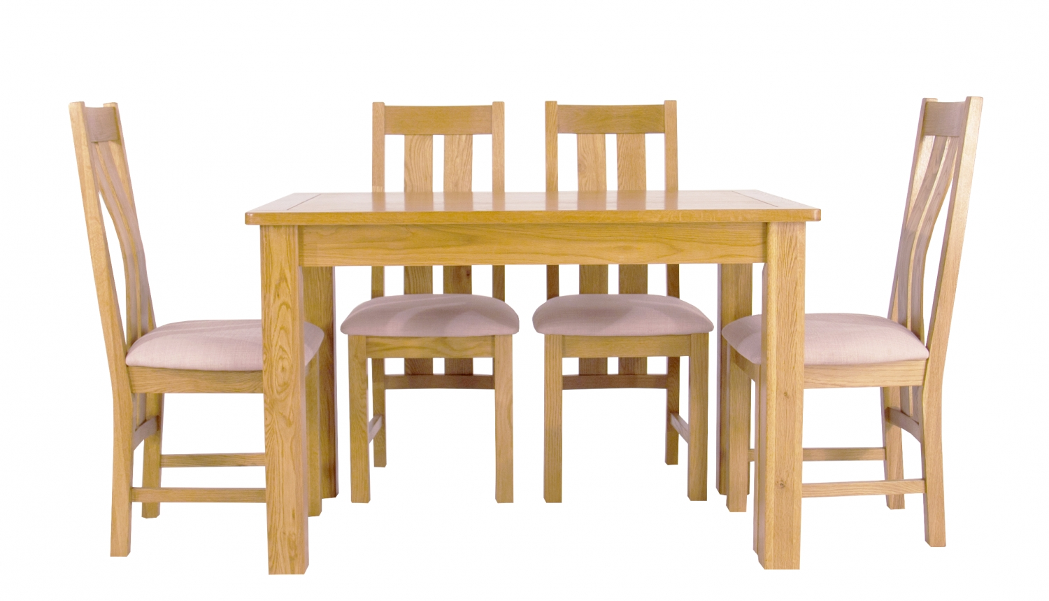 Most Recent Oak Dining Tables And 4 Chairs Regarding Fixed Dining Table From The Arlington Oak Dining (View 9 of 25)