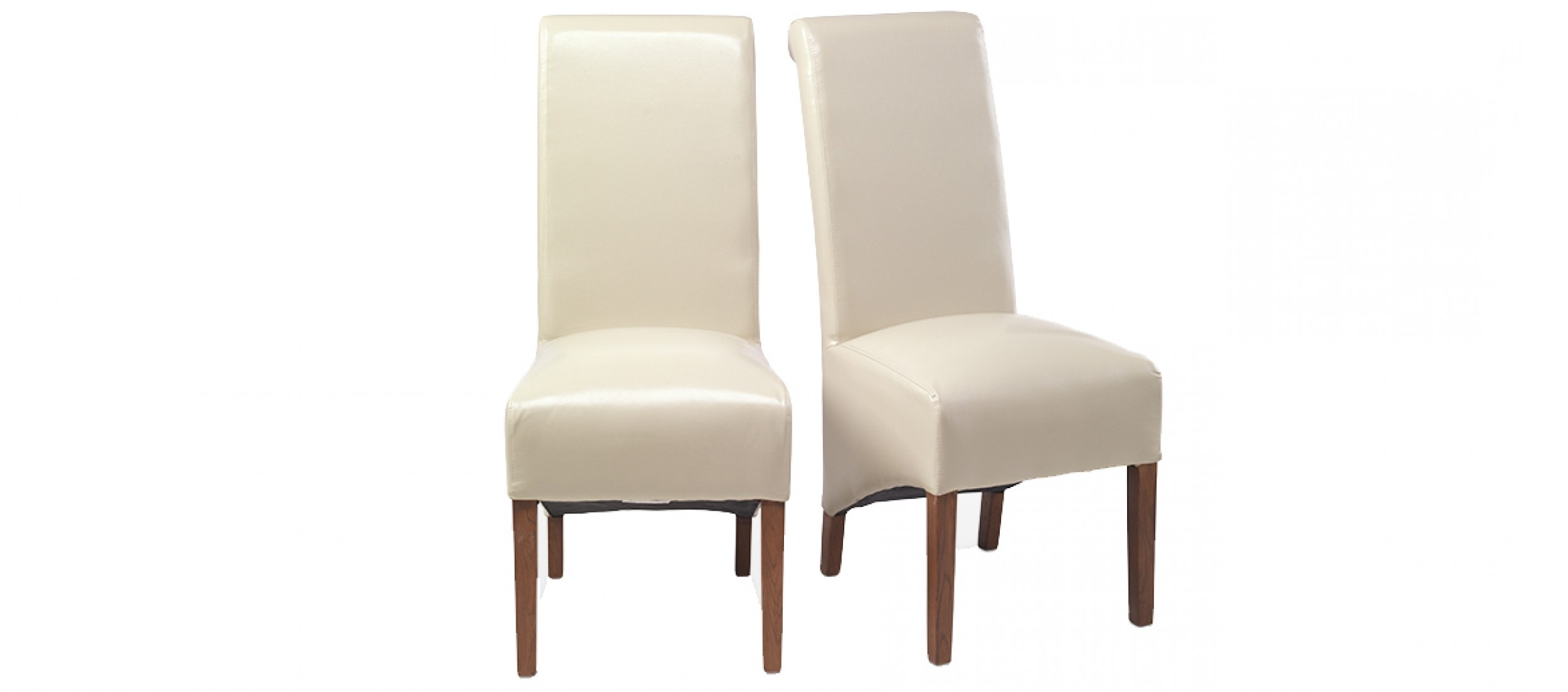 Most Recent Oak Leather Dining Chairs Within Cube Bonded Leather Dining Chairs Beige – Pair (View 10 of 25)