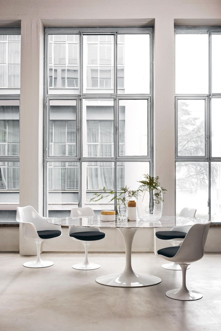 Most Recent Palazzo 7 Piece Dining Sets With Pearson White Side Chairs For 17 Best Tables Tulipes Images On Pinterest (View 17 of 25)