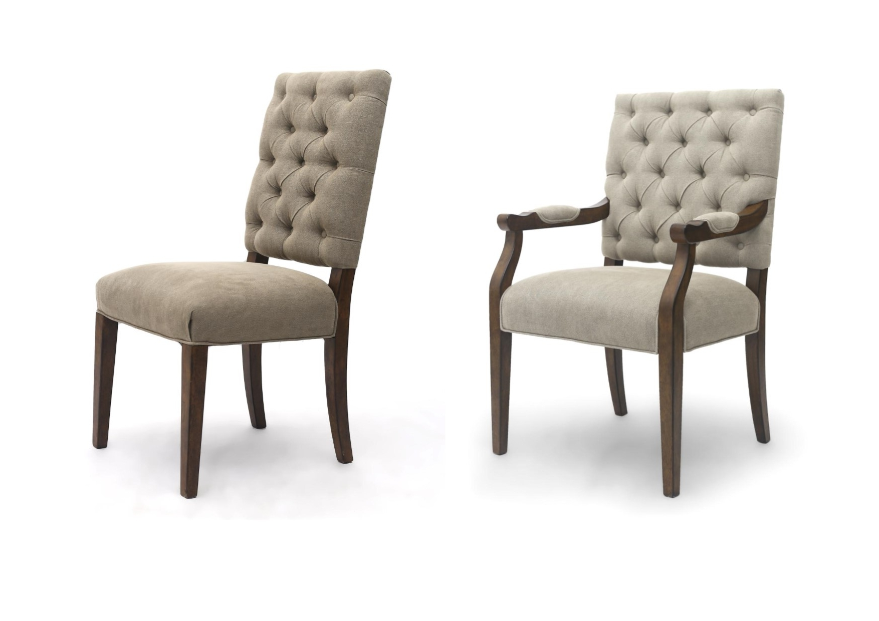 Most Recent Portland Luxury Carver Chair & Dining Chair  Linen Fabric, Button Pertaining To Button Back Dining Chairs (View 14 of 25)