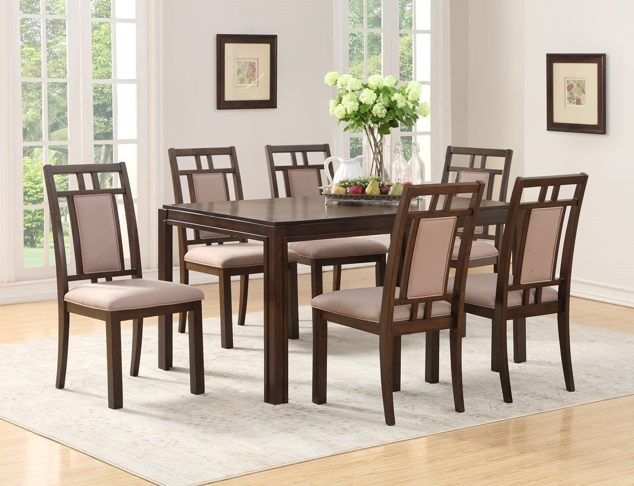 Featured Photo of Parquet 7 Piece Dining Sets