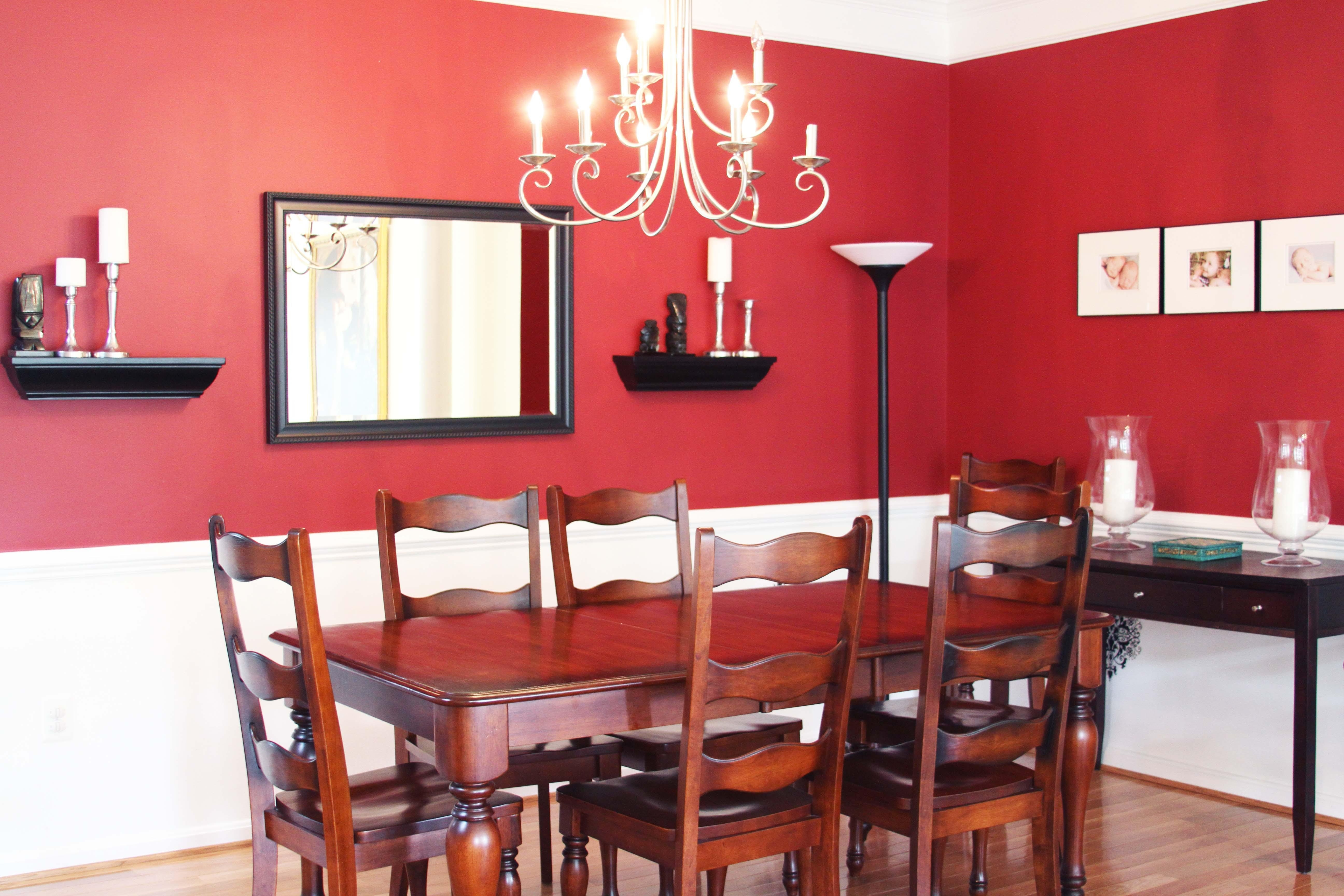 Most Recent Red Dining Table Sets With Fabulous Mirror Ideas Red Table Sets Added Square Wall Mirror Dining (View 10 of 25)