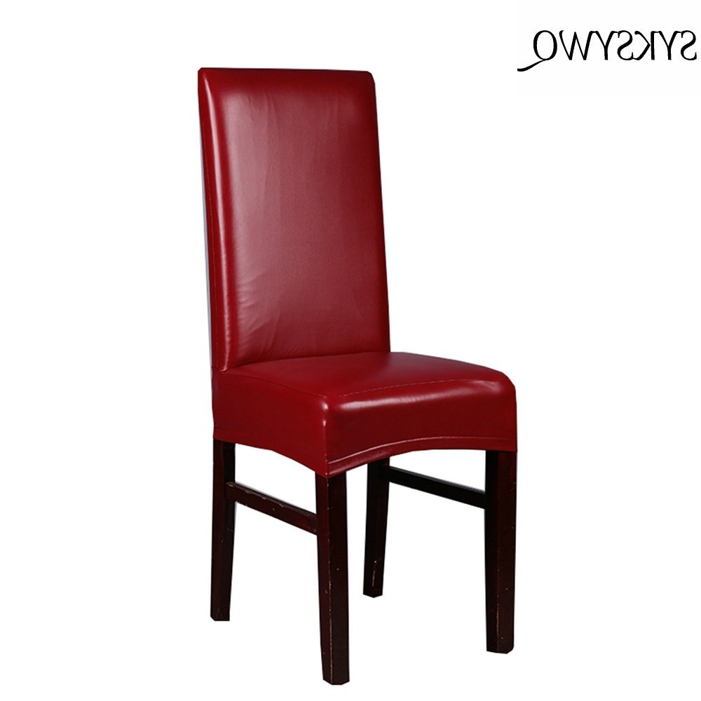 Most Recent Red Leather Dining Chairs With Regard To New Arrival Office Chair Cover Spandex Funda Silla Oficina Drop (View 12 of 25)