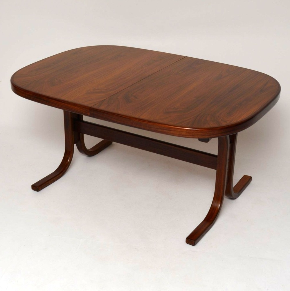 Most Recent Retro Extending Dining Tables For Danish Rosewood Extending Dining Table Vintage 1960's (View 12 of 25)