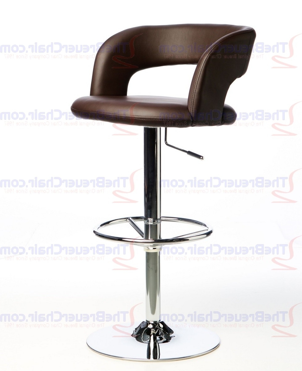 Most Recent Rocco 8 Piece Extension Counter Sets Pertaining To Matrix Imports Rocco Brown Adjustable Height Swivel Stool In Brown (View 11 of 25)