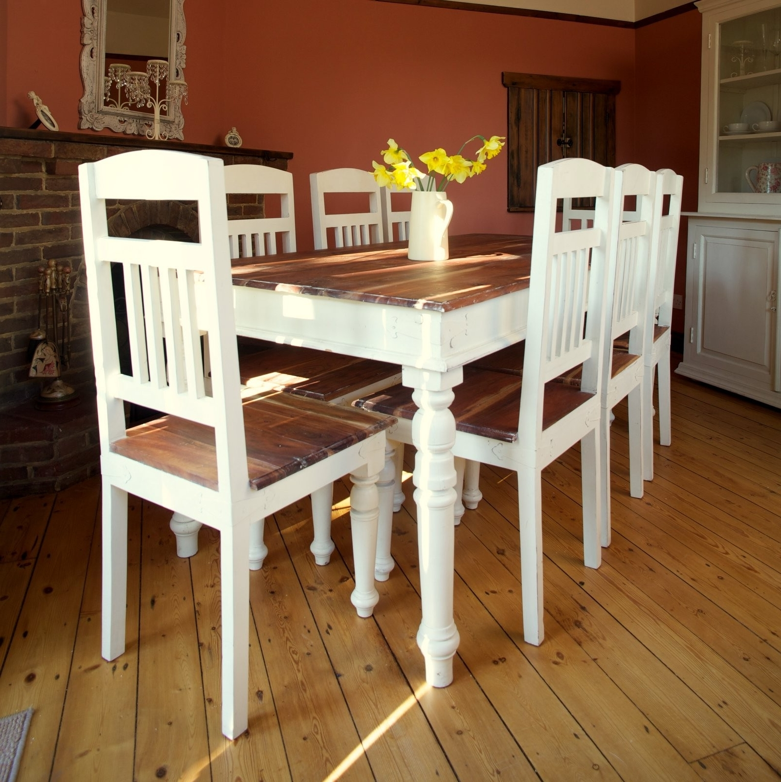 Most Recent Shabby Chic Cream Dining Tables And Chairs With Regard To Incredible Ideas Shabby Chic Cream Dining Table And Chairs (View 19 of 25)