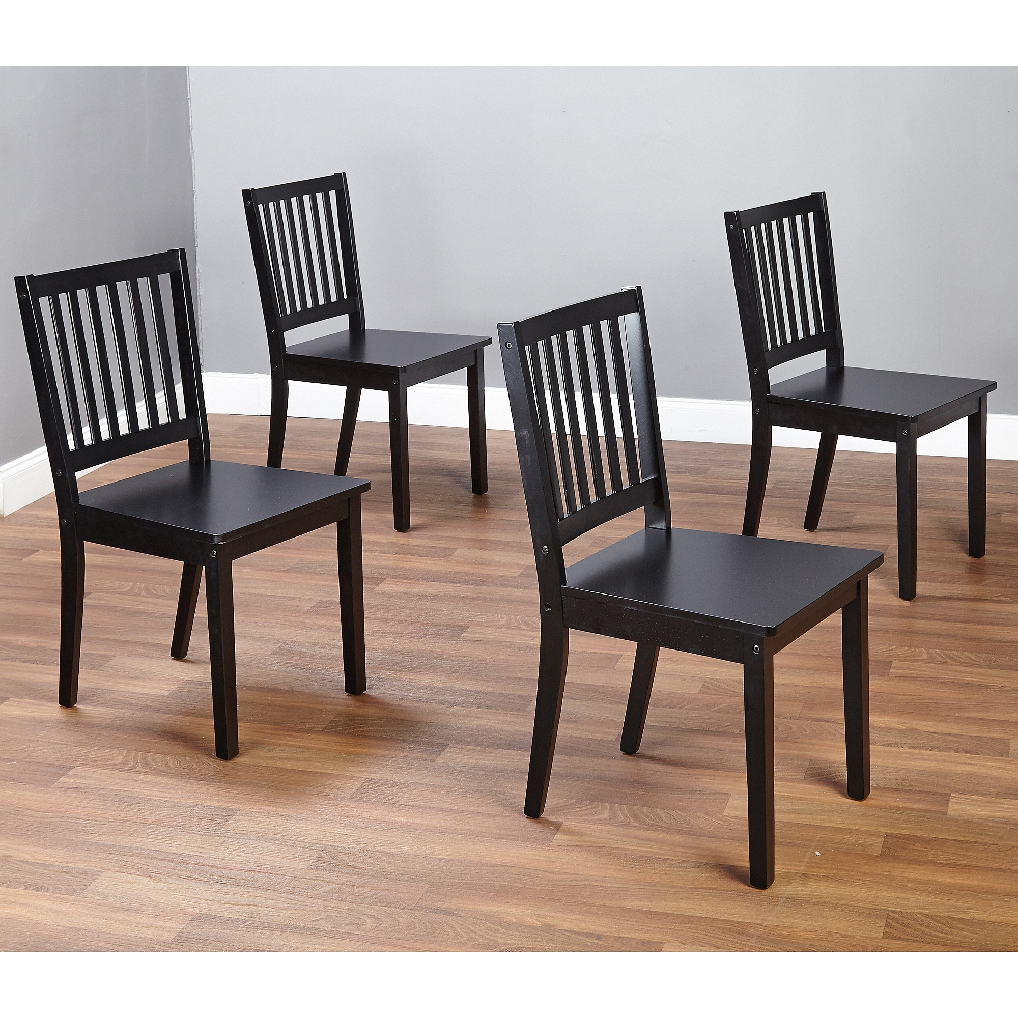 Most Recent Shaker Dining Chairs, Set Of 4, Espresso – Walmart Pertaining To Wooden Dining Sets (Gallery 14 of 25)