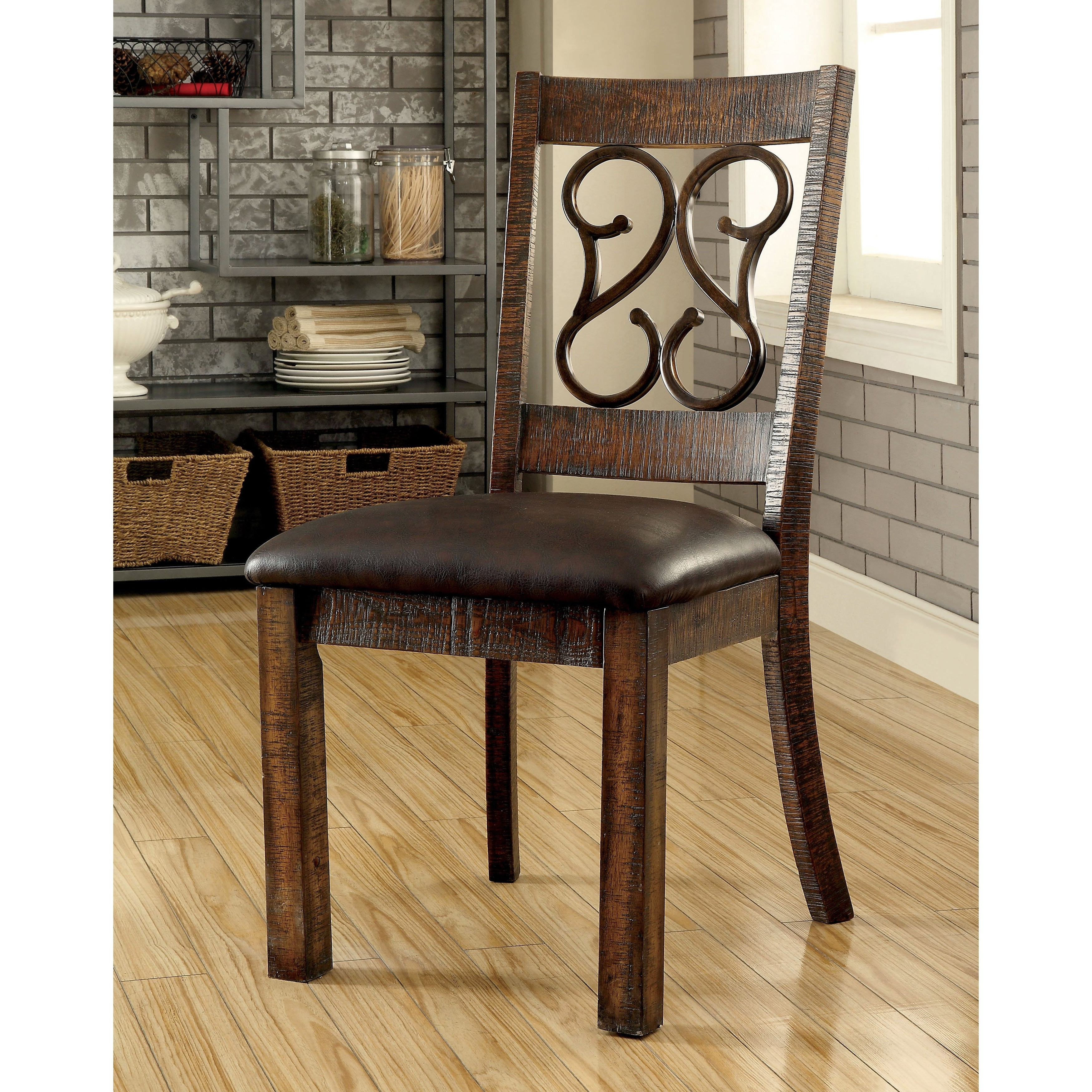 Most Recent Shop Furniture Of America Chester Traditional Scrolled Metal For Chester Dining Chairs (View 18 of 25)