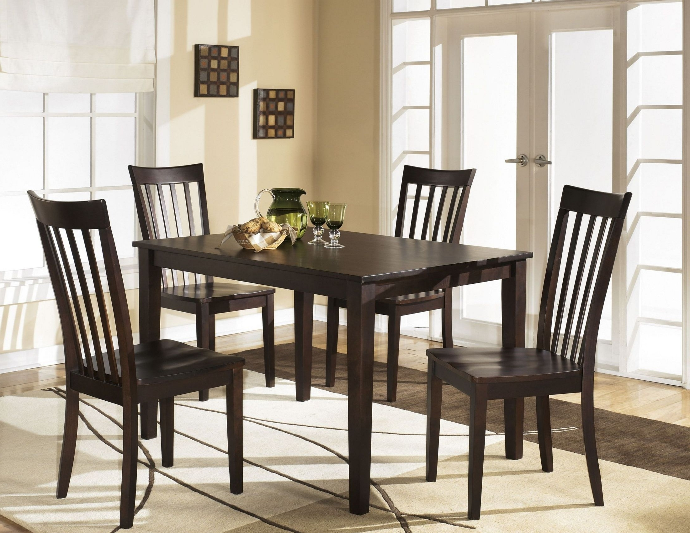 Most Recent Signature Designashley Hyland 5 Piece Casual Dining Set – Hyland With Hyland 5 Piece Counter Sets With Bench (View 16 of 25)