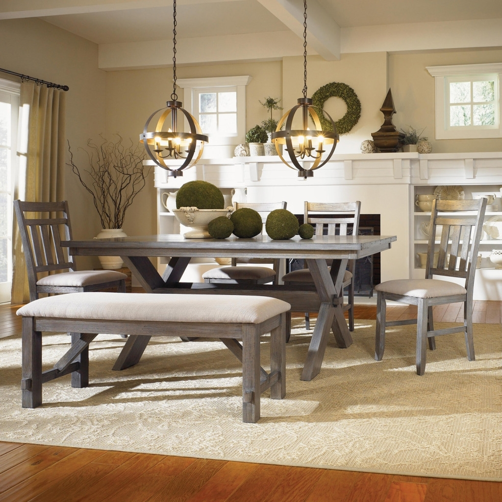 Most Recent Small Dining Tables And Bench Sets Inside Dining Tables: Interesting Bench Dining Table Set Kitchen Bench (View 12 of 25)
