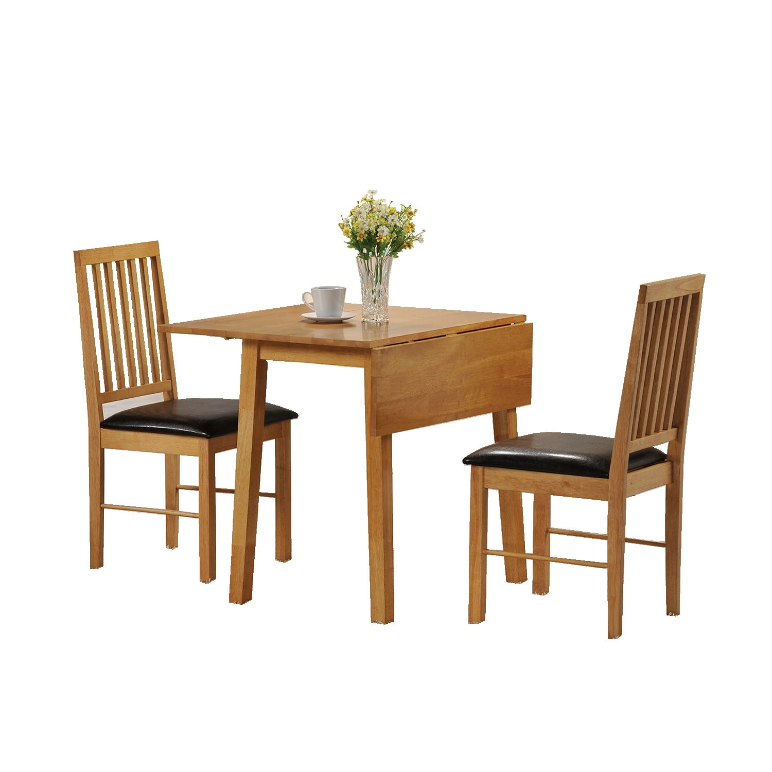 Most Recent Small Dining Tables For 2 Pertaining To Dining Table And 2 Chairs Set 2 Seater Drop Leaf Set, Small Dining (View 7 of 25)