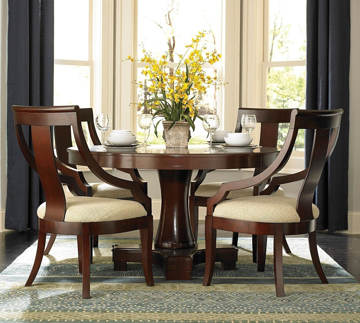 Most Recent Small Round Dining Table For 4 Awesome Round Kitchen Table With 4 Throughout Circular Dining Tables For  (View 16 of 25)