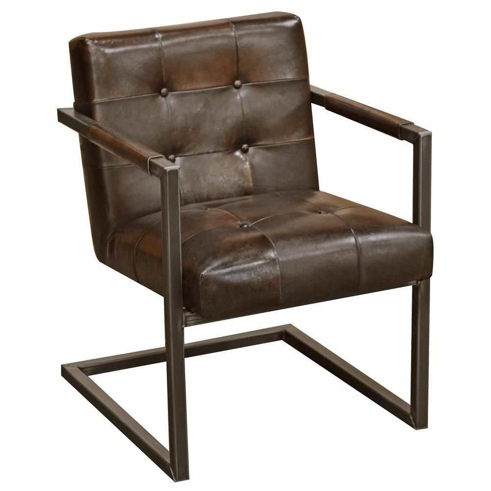 Most Recent Townsend Industrial Loft Tufted Dark Brown Leather Dining Chair Intended For Dark Brown Leather Dining Chairs (View 20 of 25)