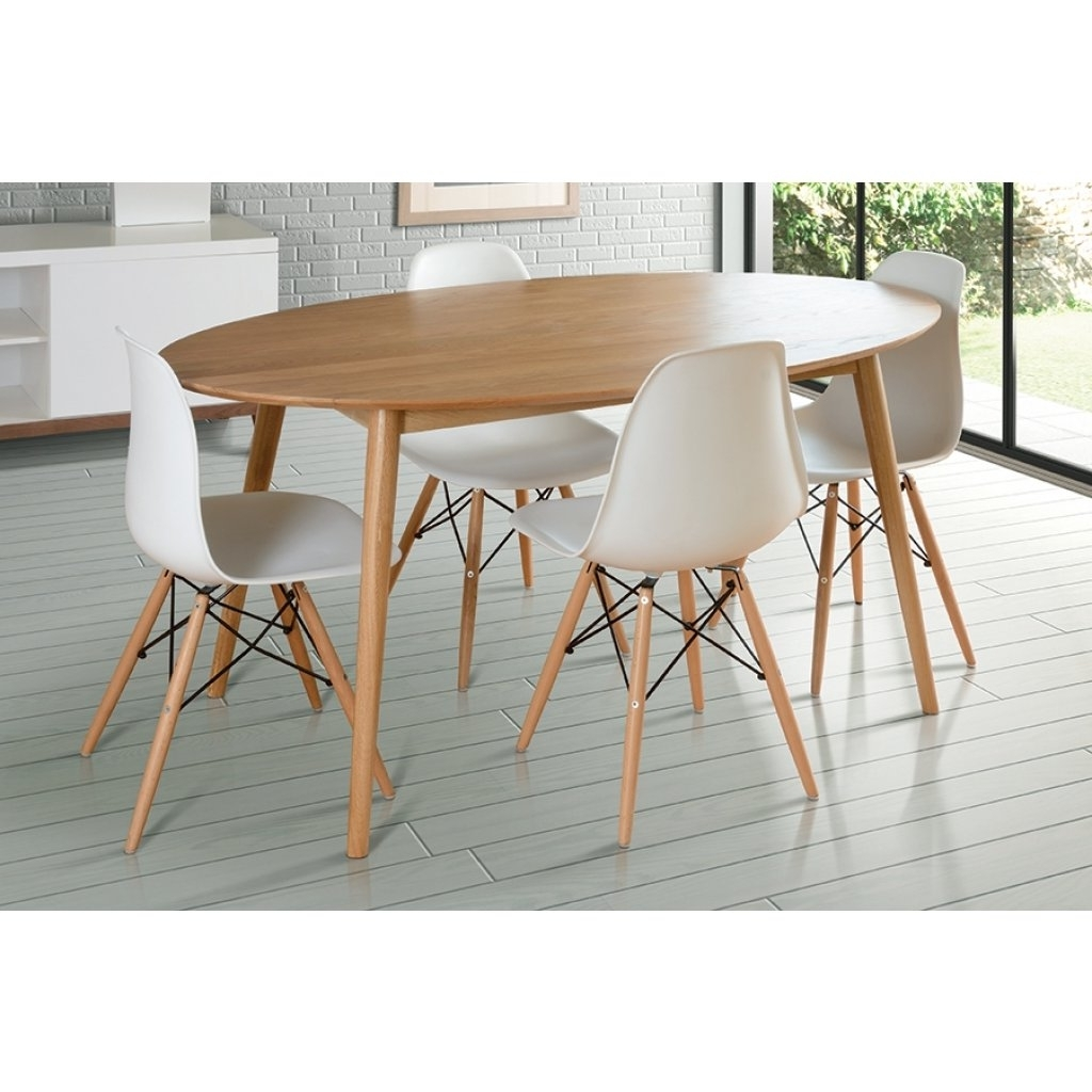 Most Recent Tretton Oval Round Retro Solid Oak Dining Table (View 23 of 25)