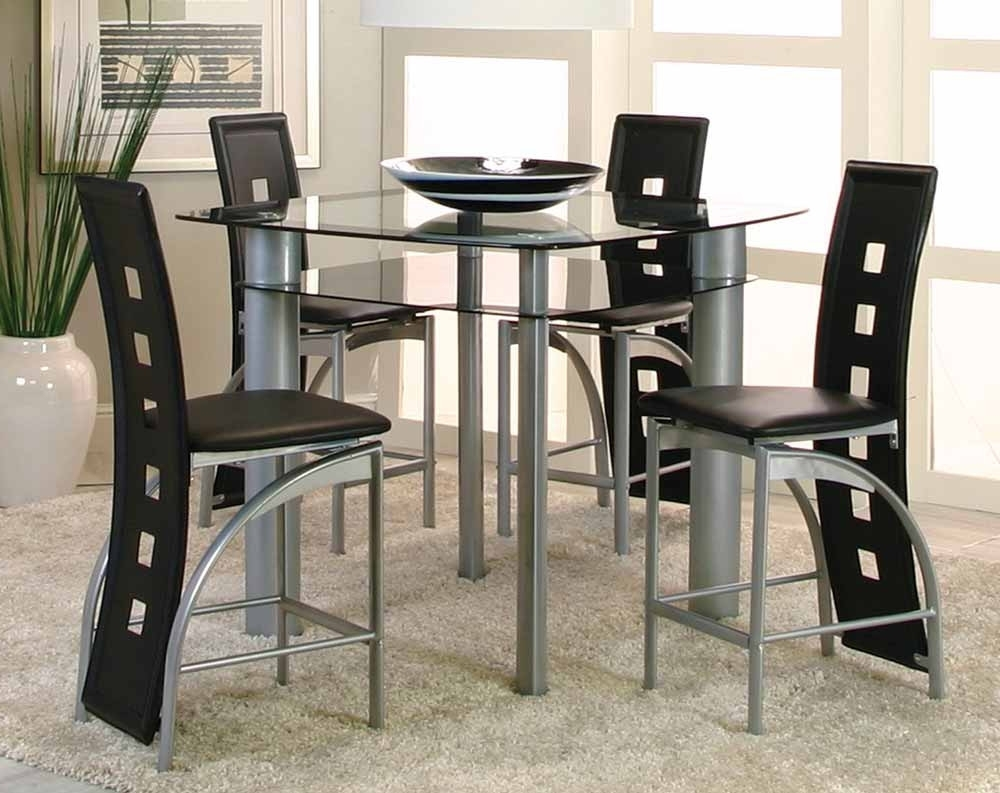 Most Recent Valencia 3 Piece Counter Sets With Bench Intended For Valencia 5 Piece Counter Height Dining Set (View 2 of 25)