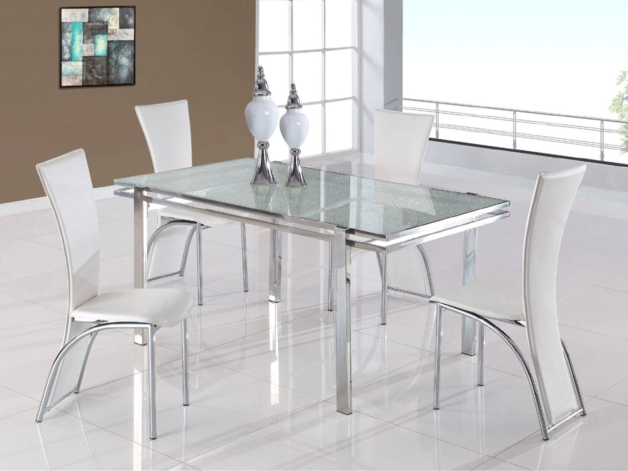 Most Recent White Glass Dining Tables And Chairs Regarding Outstanding Dining Room Sets White Glass Lass Dining Table Set Price (View 4 of 25)