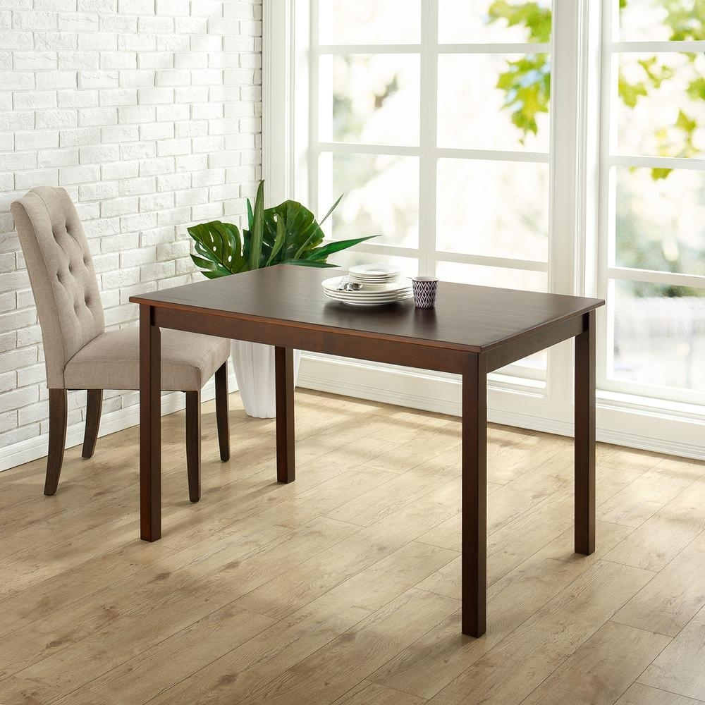 Most Recent Wood Dining Tables For Zinus Espresso Wood Dining Table (View 7 of 25)