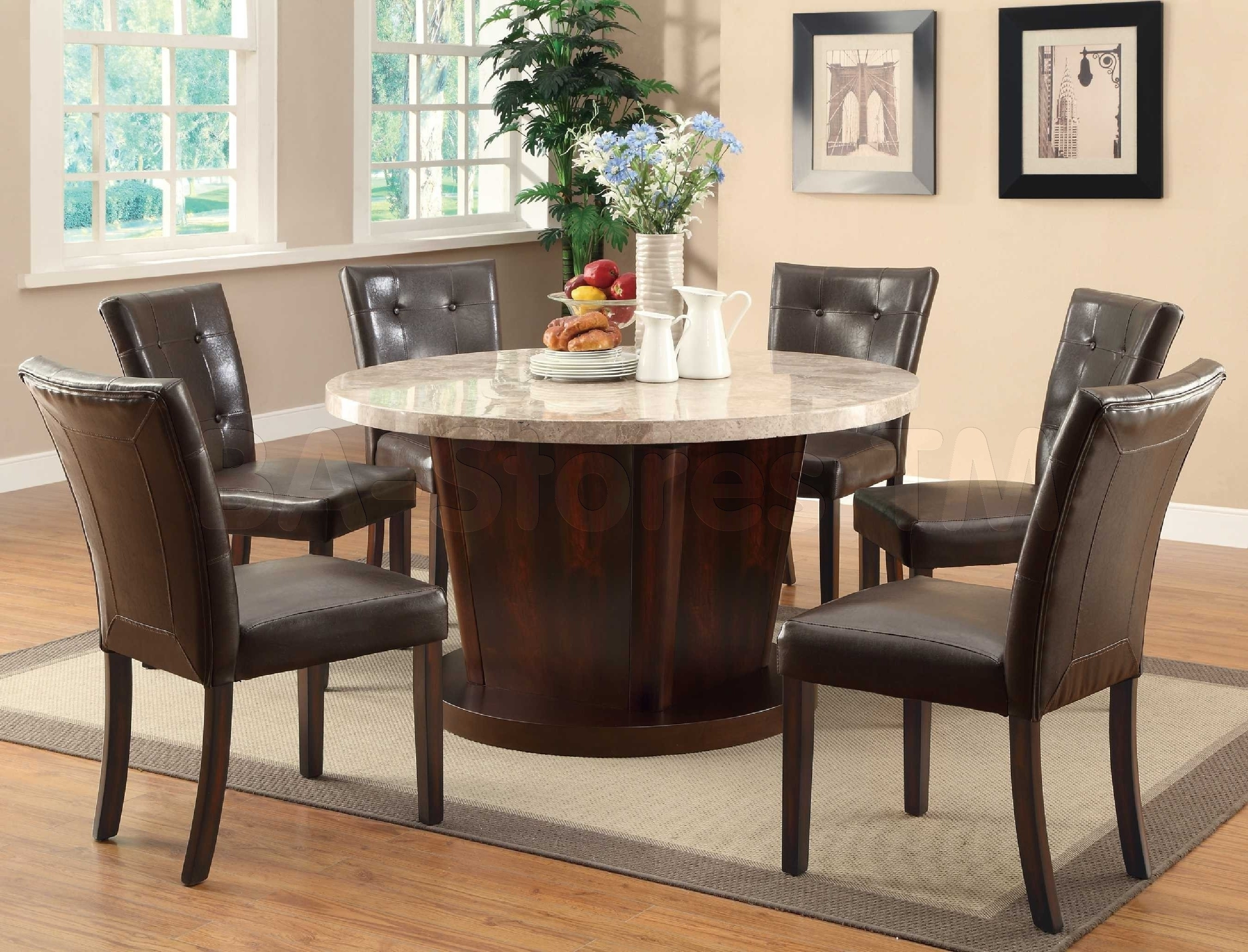 Most Recently Released 26 Elegant Dining Table With Leather Seats – Welovedandelion Intended For Dark Wooden Dining Tables (View 19 of 25)