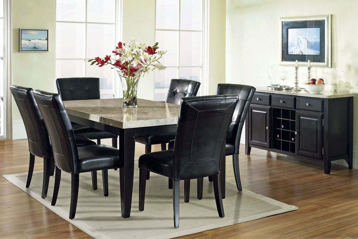 Most Recently Released 6 Chair Dining Table Sets Regarding Monarch Dining Table + 6 Chairs At Gardner White (View 5 of 25)