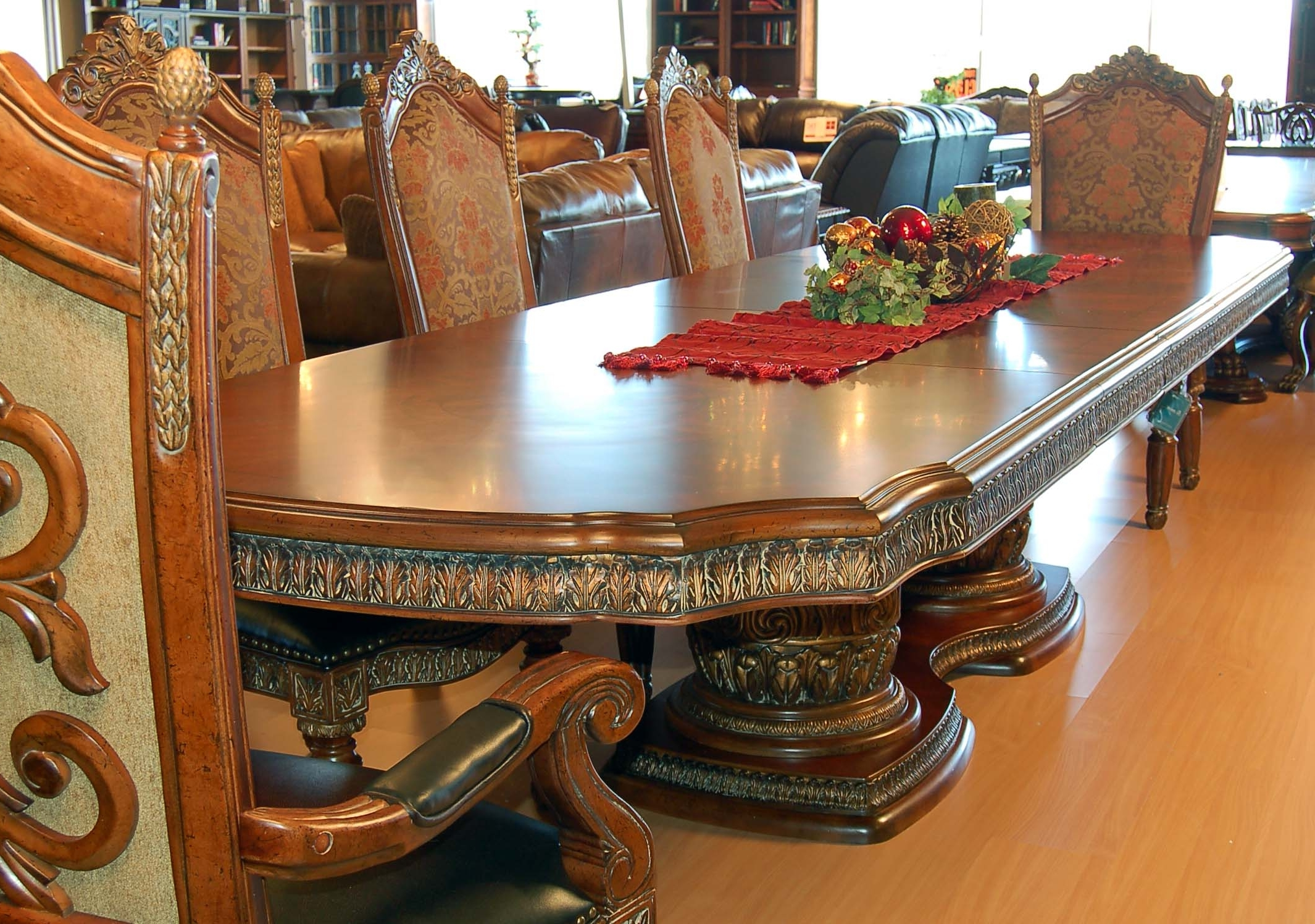 Most Recently Released 7 Piece Extension Dining Set Villa Valencia Spanish Revival Table Intended For Ebay Dining Suites (View 8 of 25)