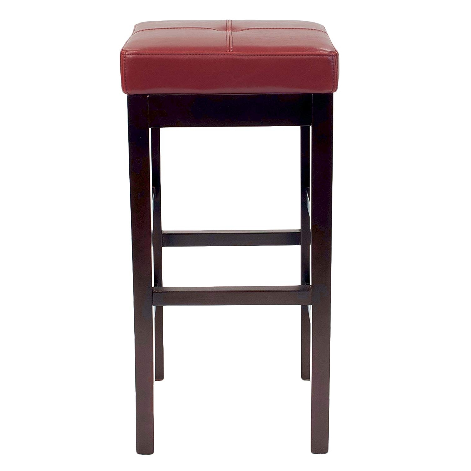 "Most Recently Released Amazon: Valencia Backless Leather Counter Stool 27"",brown Legs Inside Valencia 4 Piece Counter Sets With Bench & Counterstool (View 14 of 25)"