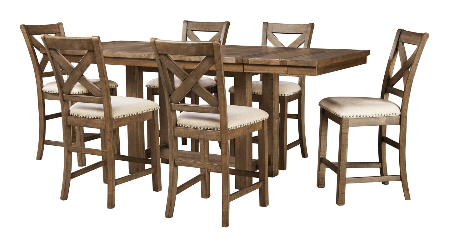 Most Recently Released Beautiful Table Runners And Counter High Table And Chairs – Arvesi With Rocco 9 Piece Extension Counter Sets (View 9 of 25)