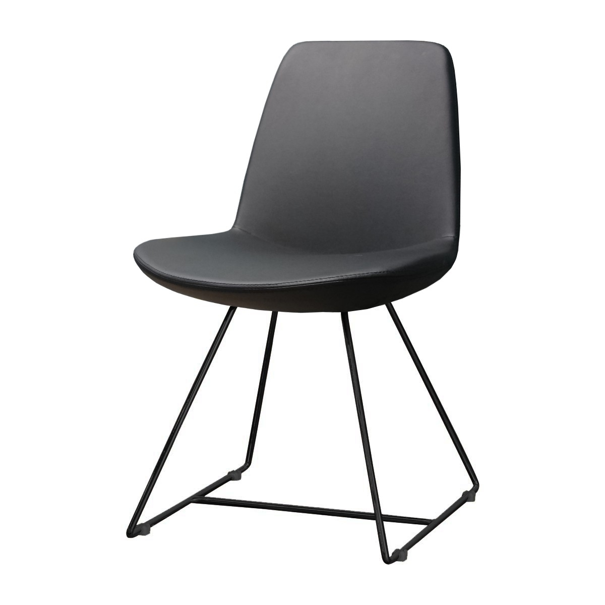 Most Recently Released Black Dining Chairs In Life Interiors – Parker Dining Chair (Black, Black Leatherette (View 6 of 25)