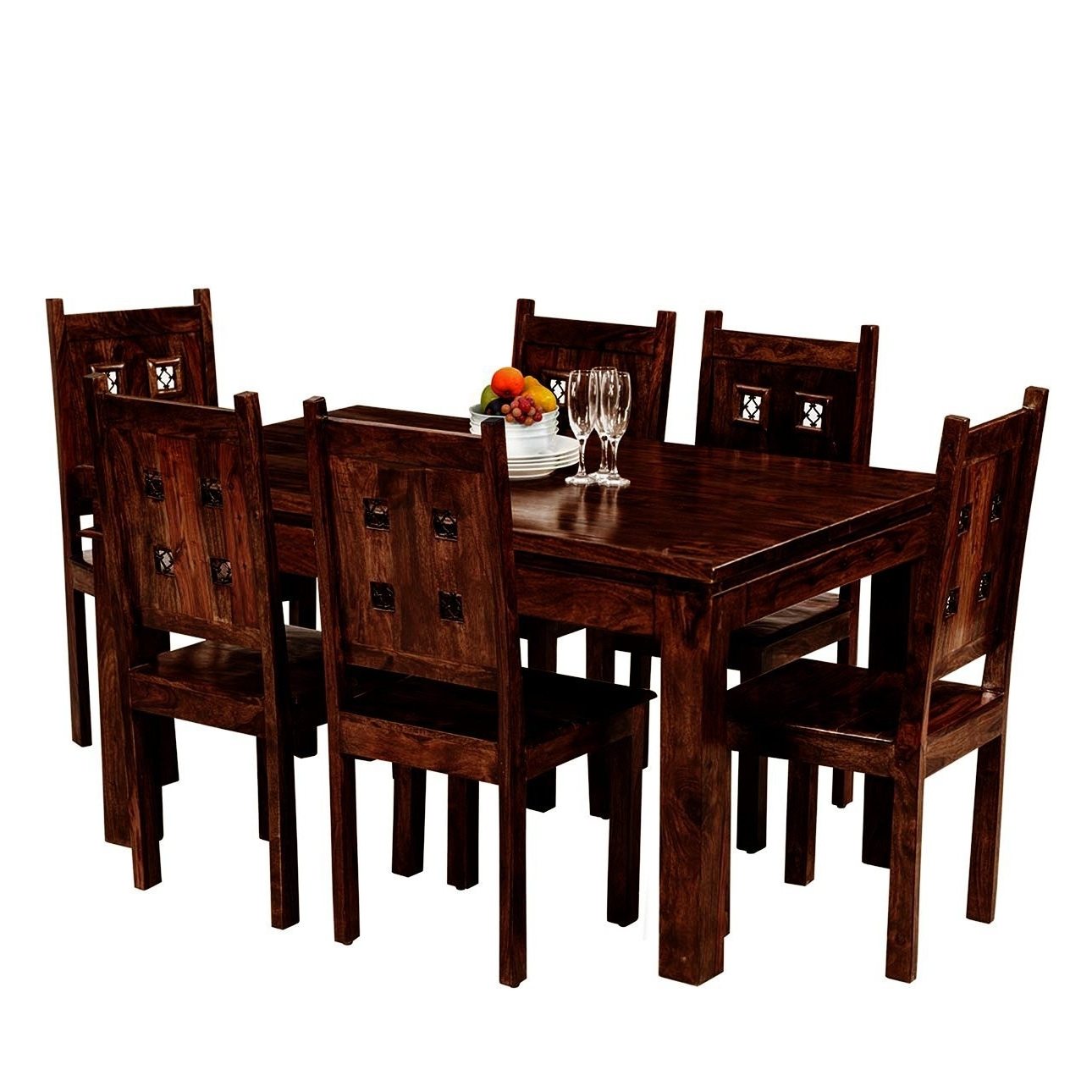 Most Recently Released Buy Wholesale Aprodz Salmanos 6 Seater Dining Table Set At Best Throughout Six Seater Dining Tables (View 13 of 25)