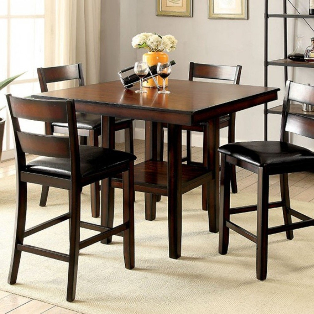 Most Recently Released Candice Ii 5 Piece Round Dining Sets With Red Barrel Studio Rj 5 Piece Counter Height Dining Set (View 14 of 25)