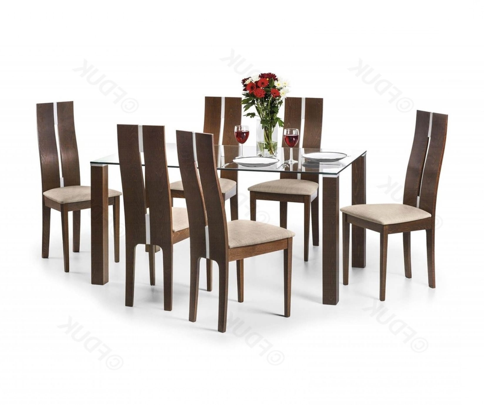 Most Recently Released Cheap Glass Dining Tables And 6 Chairs With Regard To Julian Bowen Cayman (View 12 of 25)