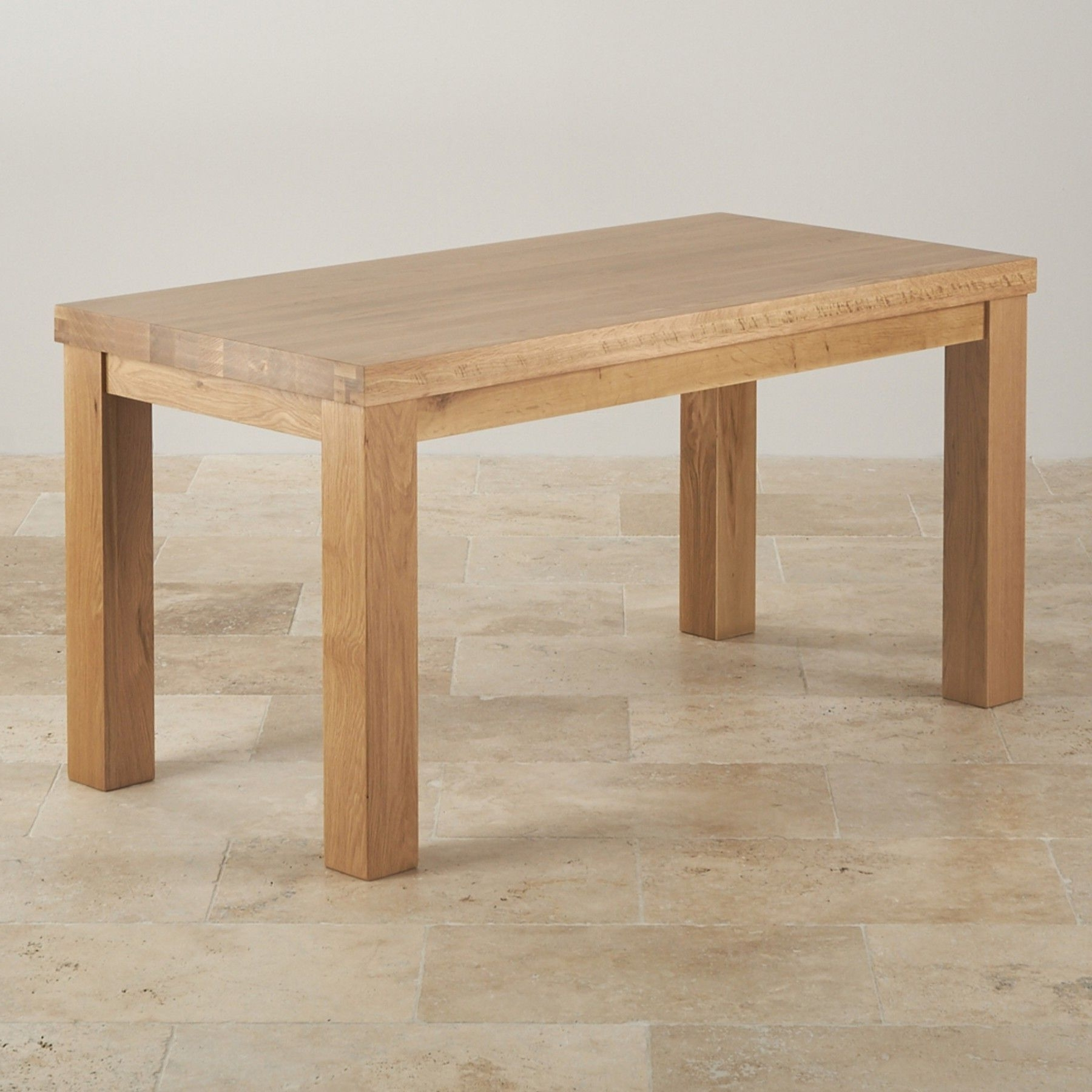 "Most Recently Released Chunky Solid Oak Dining Tables And 6 Chairs In Contemporary Chunky 5Ft X 2Ft 6"" Natural Solid Oak Dining Table (View 21 of 25)"