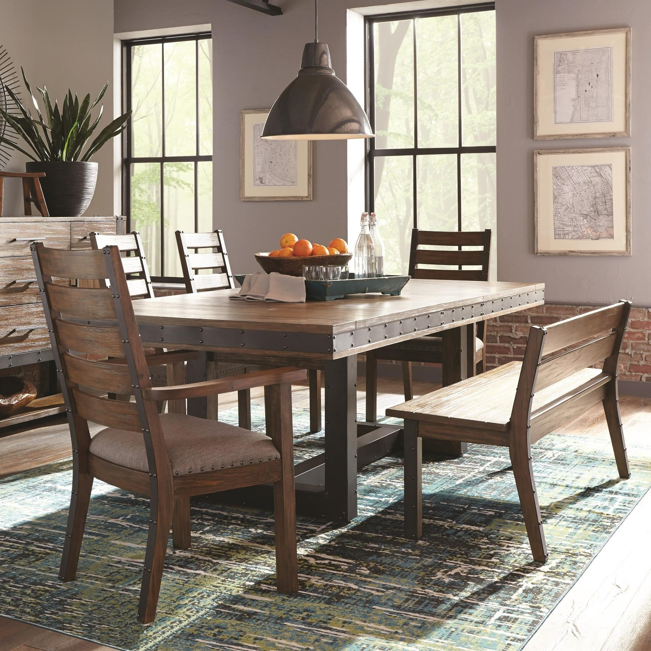 Most Recently Released Coaster Atwater 5Pc Bourbon Wire Brushed Extendable Dining Table Set With Extendable Dining Tables Sets (View 17 of 25)