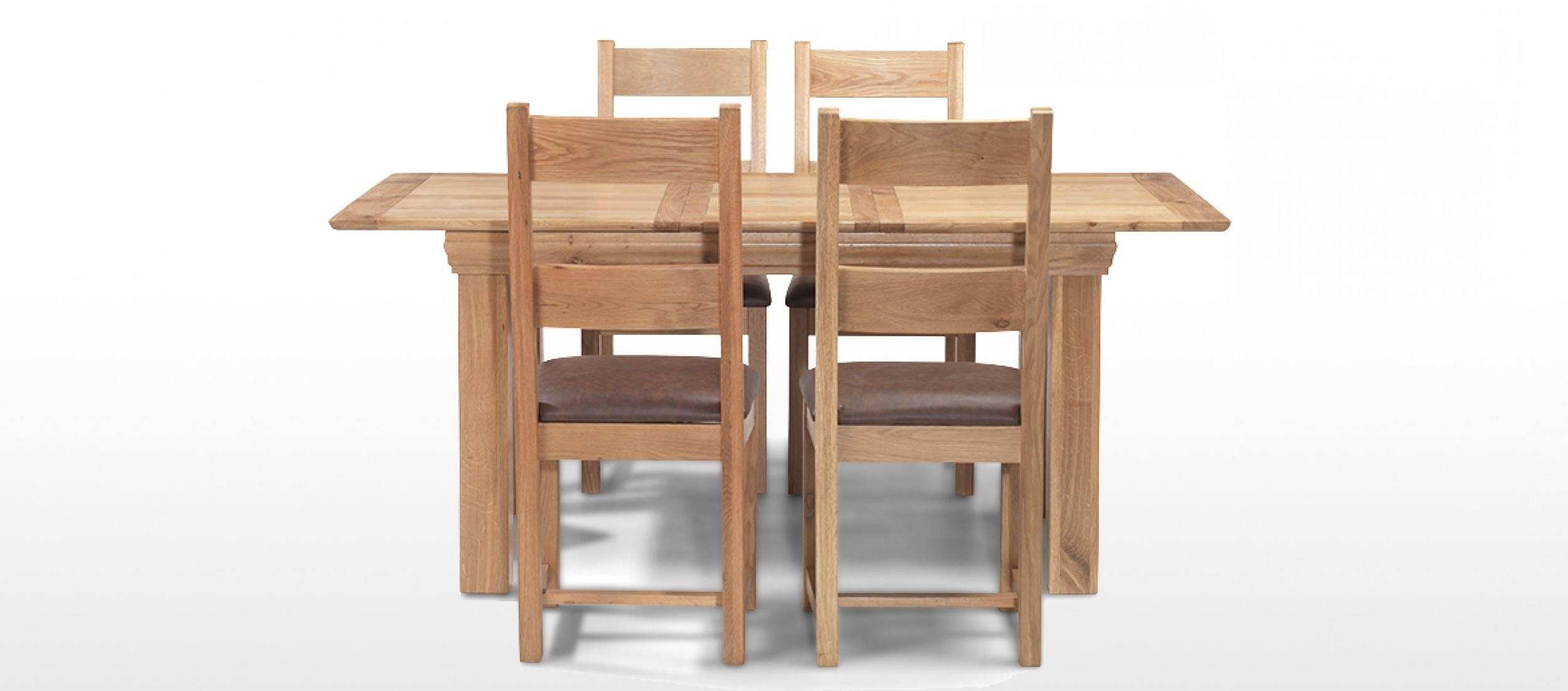 Most Recently Released Constance Oak 140 180 Cm Extending Dining Table And 4 Chairs In Extendable Dining Table And 4 Chairs (View 17 of 25)