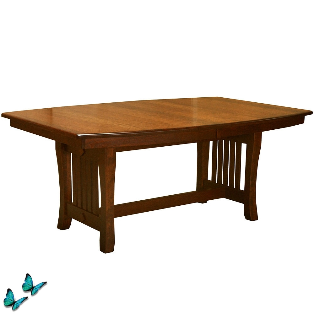 Most Recently Released Craftsman Rectangle Extension Dining Tables Pertaining To Solid Wood Trestle Table: Amish Dining Room Set Extension Dining (View 22 of 25)