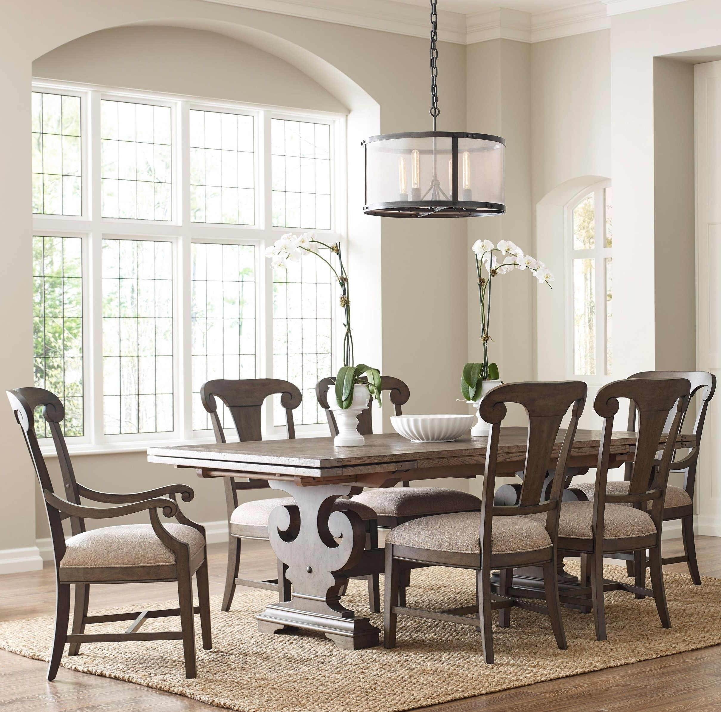 Most Recently Released Crawford 6 Piece Rectangle Dining Sets With Seven Piece Dining Set With Crawford Refectory Table And Fulton (View 11 of 25)