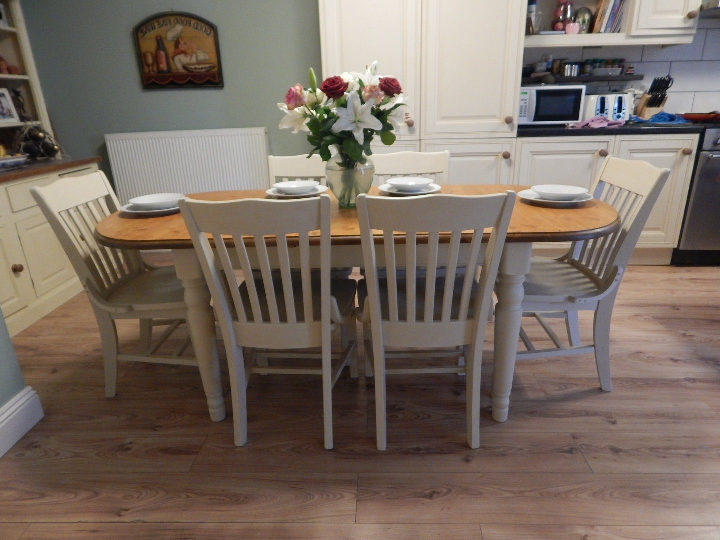 Most Recently Released Dining Tables Shabby Chic Used Furniture Country Style Unfinished With Regard To Shabby Chic Dining Sets (View 14 of 25)
