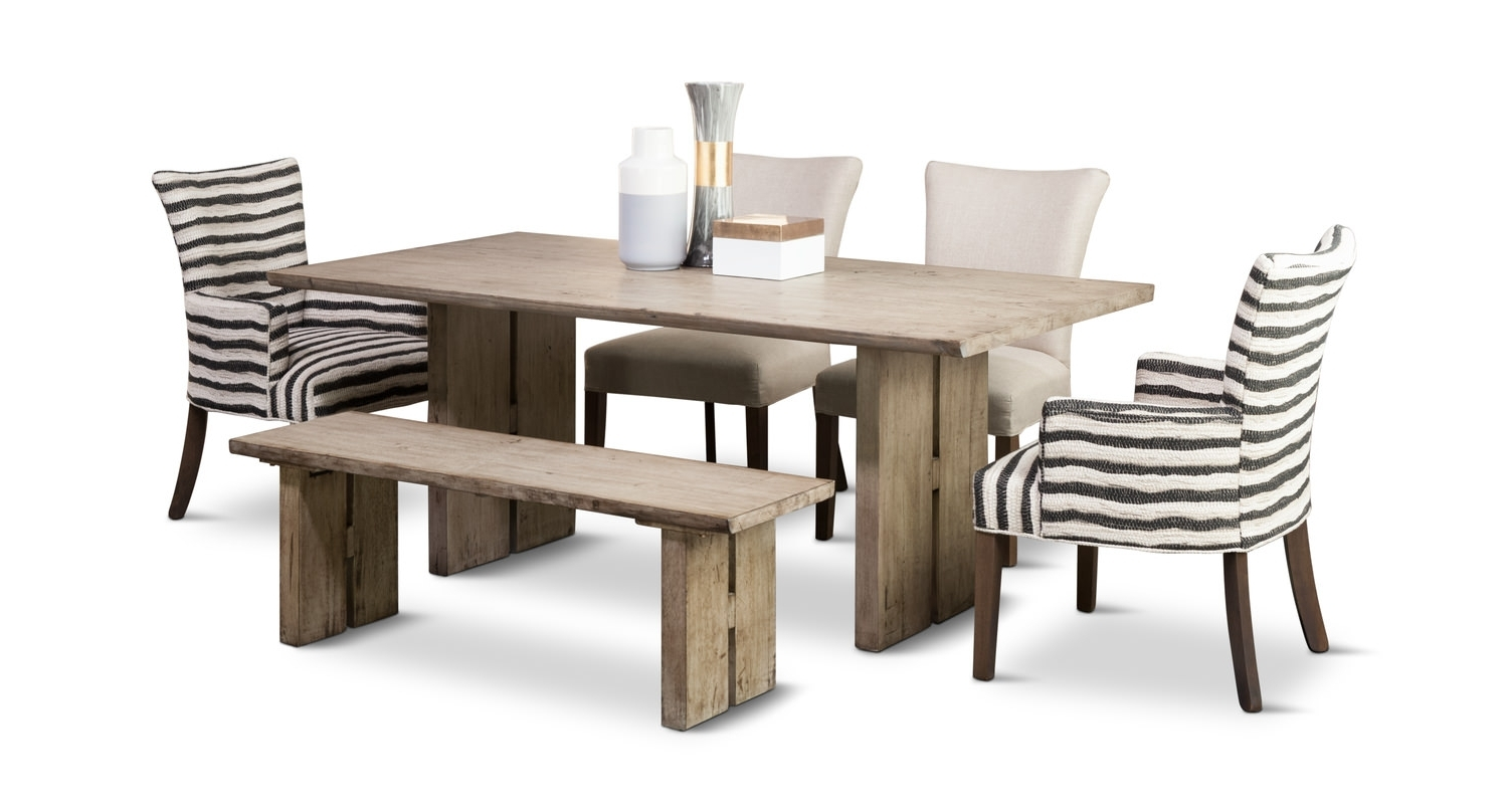 Most Recently Released Dining Tables With Grey Chairs With Renewal Dining Table With 4 Chairs And Bench (View 6 of 25)