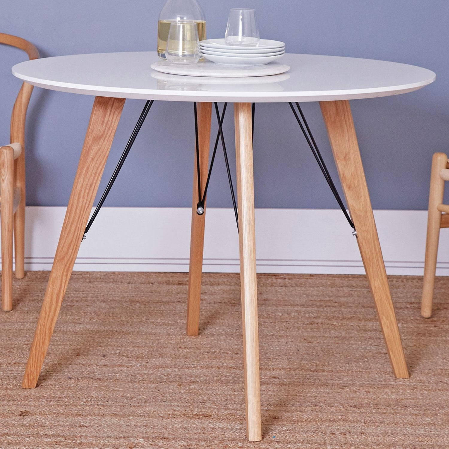 Most Recently Released Dining Tables With White Legs And Wooden Top Pertaining To Estelle Round Dining Table With Ash Legs (View 19 of 25)