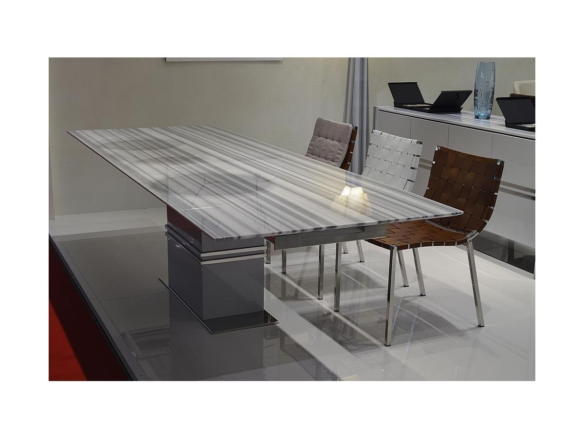 Most Recently Released Extending Lugano Thin Marble Dining Table With Extending Marble Dining Tables (View 6 of 25)