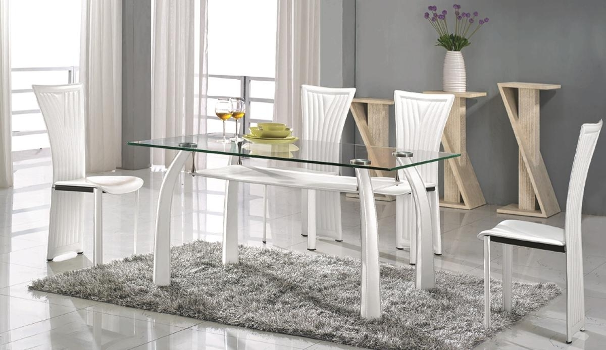 Most Recently Released High Class Rectangular Clear Glass Top Dining Table And Chair Sets Intended For Clear Glass Dining Tables And Chairs (View 11 of 25)