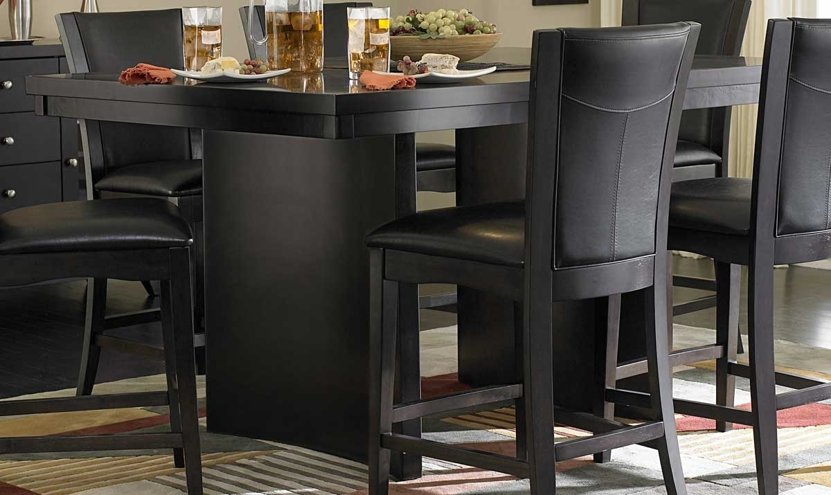 Most Recently Released Homelegance Daisy Counter Height Table 710 36 Inside Hyland 5 Piece Counter Sets With Stools (View 24 of 25)