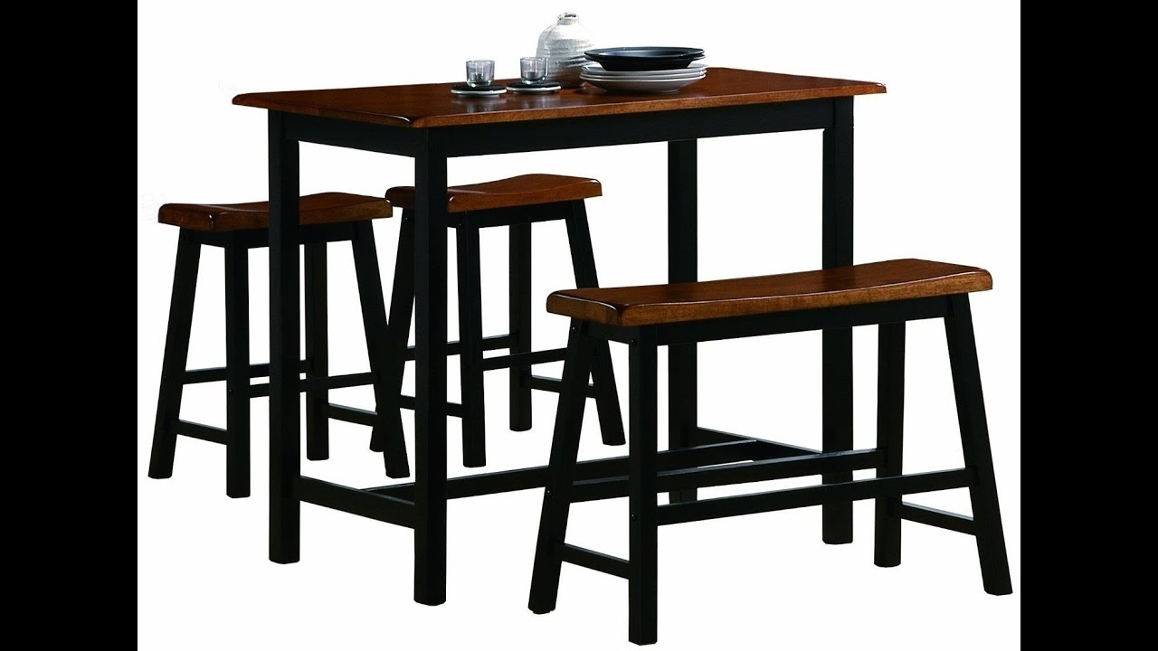 Most Recently Released Ideas For Bar Height Dining Table Set – Youtube Pertaining To Dining Table Sets For  (View 19 of 25)