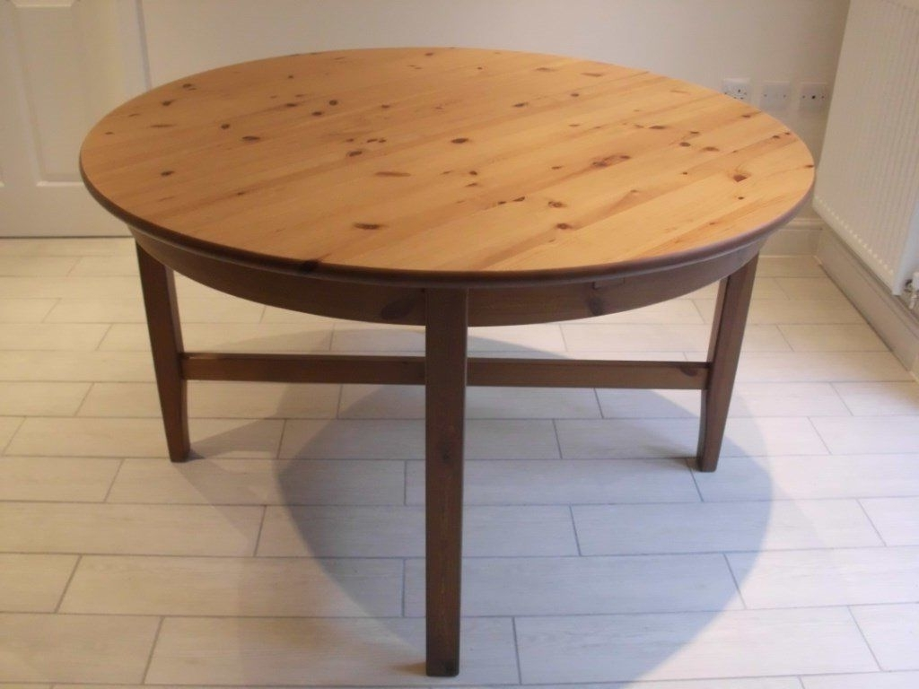 Most Recently Released Ikea Leksvik Round Extending Dining Table Seats Up To Six (View 15 of 25)