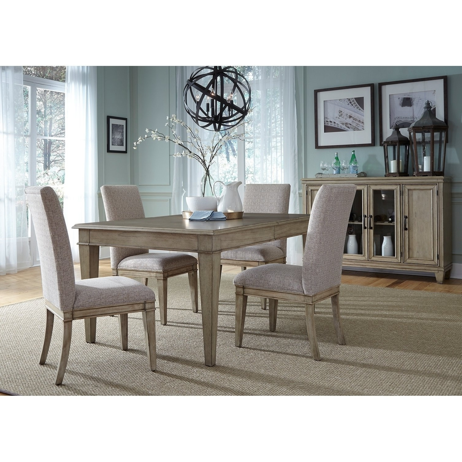Most Recently Released Jaxon 5 Piece Extension Round Dining Sets With Wood Chairs Throughout Grayton Grove Driftwood Opt 5 Piece Rectangular Dining Table Set (Gallery 13 of 25)